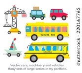 vector set cars ya ht... | Shutterstock .eps vector #220167763