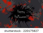 scary invitation for halloween... | Shutterstock .eps vector #220175827