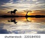 running down the mountain | Shutterstock . vector #220184503