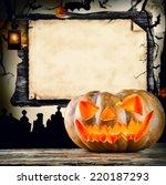 Concept Of Halloween Pumpkin...