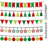 christmas buntings | Shutterstock .eps vector #220190887