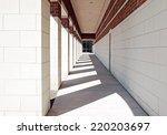 exterior geometric walkway   Shutterstock . vector #220203697