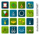 jewelry icons set of expensive...   Shutterstock .eps vector #220207687