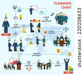 teamwork infographic set with... | Shutterstock .eps vector #220208653