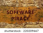 software piracy | Shutterstock . vector #220209667