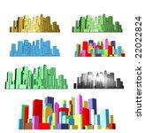 seven renders of abstract... | Shutterstock . vector #22022824