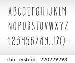 set of hand drawn uppercase... | Shutterstock .eps vector #220229293