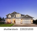 beautiful exterior of new home... | Shutterstock . vector #220231033