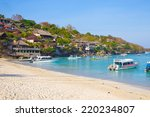 coastline of lembongan island... | Shutterstock . vector #220234807