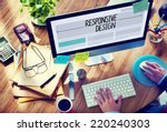 Man Working On A Responsive We...