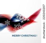 red color christmas blurred... | Shutterstock .eps vector #220243207