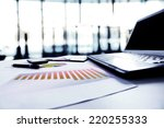 graphs  charts  business table. ... | Shutterstock . vector #220255333