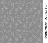 dark grey kids shoes | Shutterstock .eps vector #220261117
