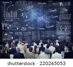 diverse business people in a... | Shutterstock . vector #220265053