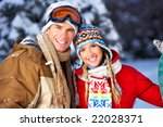 Young  Happy Smiling Couple In...
