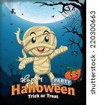 vintage halloween poster design ... | Shutterstock .eps vector #220300663