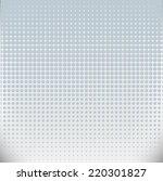 vector halftone dots on gray... | Shutterstock .eps vector #220301827