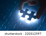 missing jigsaw puzzle piece... | Shutterstock . vector #220312597