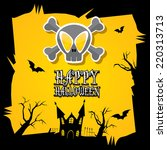 vector happy halloween card.... | Shutterstock .eps vector #220313713