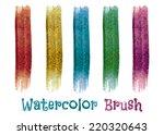 watercolor brush strokes....   Shutterstock .eps vector #220320643