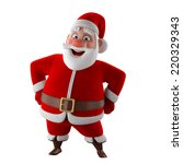 cheerful 3d model of santa... | Shutterstock . vector #220329343