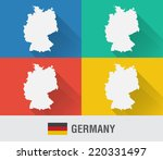germany world map in flat style ...