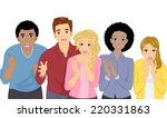 illustration featuring a group... | Shutterstock .eps vector #220331863
