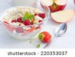 raspberries  strawberries and... | Shutterstock . vector #220353037