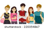 illustration featuring students ... | Shutterstock .eps vector #220354867