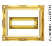Two Antique Gold Frame Isolate...