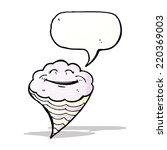 cartoon happy cloud | Shutterstock .eps vector #220369003
