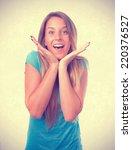 smug girl posing | Shutterstock . vector #220376527
