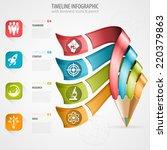 business timeline infographic...   Shutterstock .eps vector #220379863