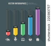 vector abstract infographic... | Shutterstock .eps vector #220383757