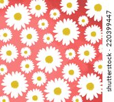 daisy flowers on pink background | Shutterstock .eps vector #220399447