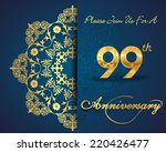99 year anniversary celebration ... | Shutterstock .eps vector #220426477