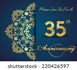 35 year anniversary celebration ... | Shutterstock .eps vector #220426597