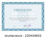 certificate. template diplomas  ... | Shutterstock .eps vector #220434853