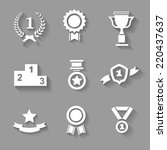 set of white  award  success... | Shutterstock . vector #220437637