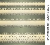 set of vintage borders  design... | Shutterstock .eps vector #220461673