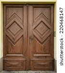 Historical Ornate Wooden Door ...