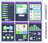 mobile ui design. set of...