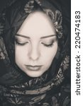 young fashion woman  | Shutterstock . vector #220474183