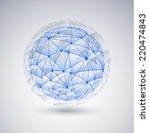 networks   globe design | Shutterstock .eps vector #220474843