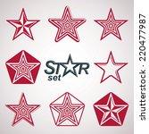 vector heraldic emblems... | Shutterstock .eps vector #220477987
