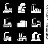 factory and power plants icon...   Shutterstock . vector #220480477