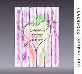vector template poster on... | Shutterstock .eps vector #220481917