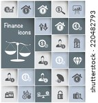 financial icon set design clean ... | Shutterstock .eps vector #220482793