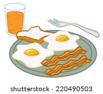 an illustration of a plate of... | Shutterstock .eps vector #220490503