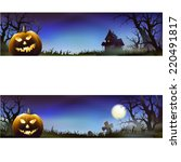halloween background | Shutterstock .eps vector #220491817